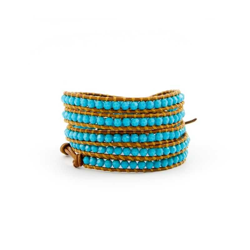 Wrap bracelet with turquoise