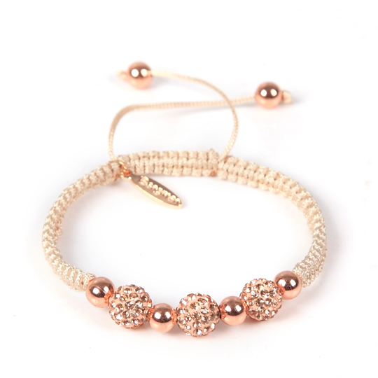 Cream Cord rose gold Swarovski
