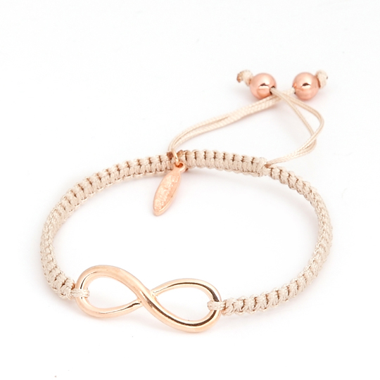 Cream Cord rose gold Infinity