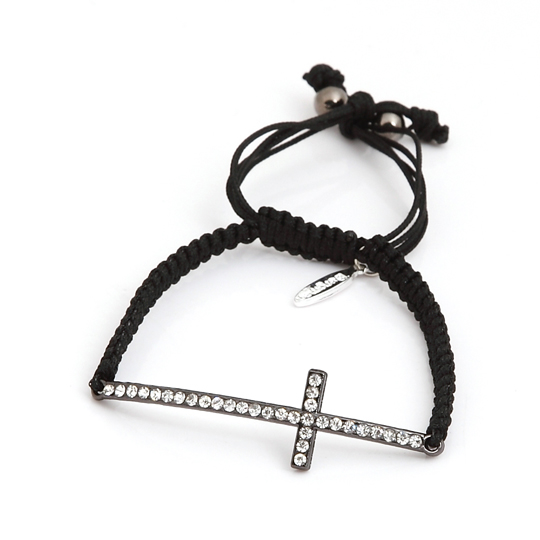 Black Cord with black cross