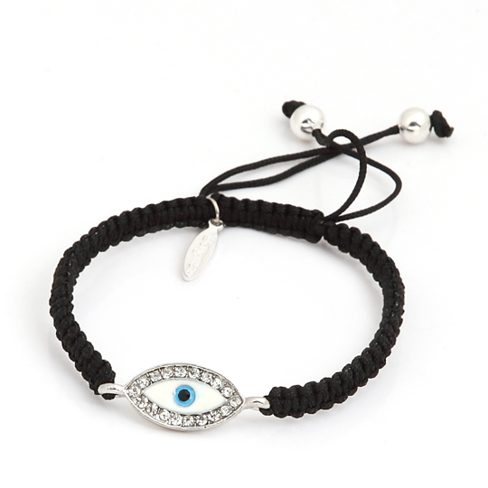 Silver eye with black cord