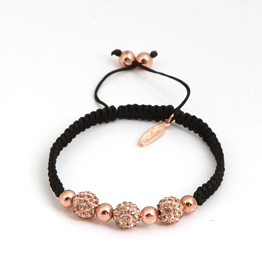 Black with 8 mm rose gold