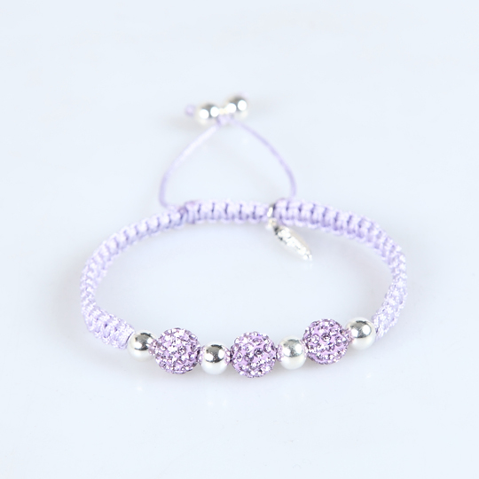 Purple cord with Purple Swarovski stones